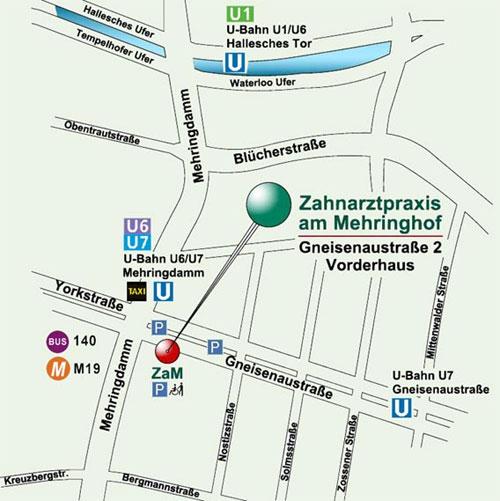 Zahnarztpraxis am Mehringhof U6 U7 Mehringdamm